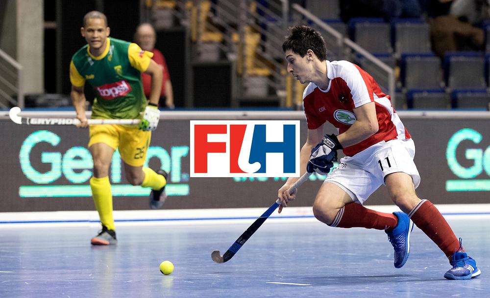 BERLIN - Indoor Hockey World Cup<br /> Men: Austria - South Africa<br /> foto: SCHMIDT Patrick.<br /> WORLDSPORTPICS COPYRIGHT FRANK UIJLENBROEK