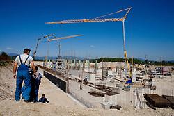 Building of new stadium in Ljubljana - Stozice, on April 22, 2009, in Ljubljana, Slovenia.  (Photo by Vid Ponikvar / Sportida)