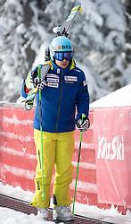 17.01.2017, Hahnenkamm, Kitzbühel, AUT, FIS Weltcup Ski Alpin, Kitzbuehel, Abfahrt, Herren, Streckenbesichtigung, im Bild Patrick Küng (SUI) // Patrick Kueng of Switzerland during the course inspection for the men's downhill of FIS Ski Alpine World Cup at the Hahnenkamm in Kitzbühel, Austria on 2017/01/17. EXPA Pictures © 2017, PhotoCredit: EXPA/ Johann Groder