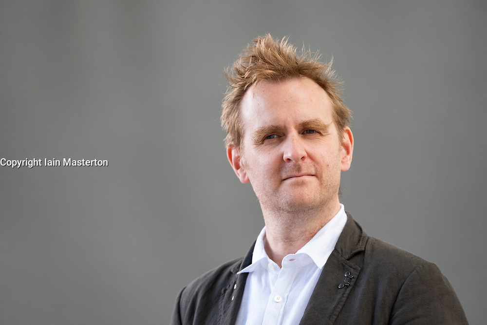 "Edinburgh, Scotland, UK; 16 August, 2018. Pictured; Nick Harkaway. The British author tackles the subject of state surveillance in his book ""Gnomon""."