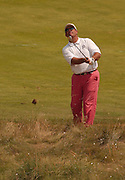 2007 Boyne Tournament of Champions runner up Brian Cairns watches his approach shot on the 16th hole of Boyne Mountains Alpine course.