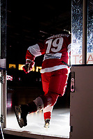 2018-12-30 | Ljungby, Sweden: Troja-Ljungby (19) Johan Andersson during the the intro before the game between Troja Ljungby and Kristianstad IK at Ljungby Arena ( Photo by: Fredrik Sten | Swe Press Photo )<br /> <br /> Keywords: Icehockey, Ljungby, HockeyEttan, Troja Ljungby, Kristianstad IK, Ljungby Arena, AllEttan Södra