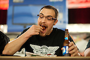 Tyson Henry eats in the finals during ZestFest at the Irving Convention Center on Saturday, January 26, 2013 in Irving, Texas. Henry won the finals for the second time in the past three years (Cooper Neill/The Dallas Morning News)