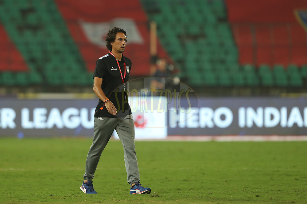Joao Carlos Pires De Deus of Northeast United FCduring match 6 of the Hero Indian Super League between Chennaiyin FC and NorthEast United FC held at the Jawaharlal Nehru Stadium, Chennai, India on the 23rd November 2017<br /> <br /> Photo by: Ron Gaunt / ISL / SPORTZPICS