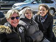 Trying to keep warm:  Linda Doyle, Georgia Pourchot, Angel Collins