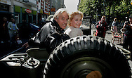 "THE NETHERLANDS-THE HAGUE-  August 8, 2005. Cast and crew of the Dutch film 'Zwartboek'. Actress Carice van Houten (R) and director Paul Verhoeven. PHOTO: GERRIT DE HEUS..Den Haag. 26/08/05. De cast en crew van de Nederlandse film ""Zwartboek"" op het Plein in Den Haag. Carice van Houten(L) en regisseur Paul Verhoeven."