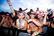 The crowds at Global Gathering festival, Long Marston Airfield, Stoke on Trent, UK. 28/29 July 2006