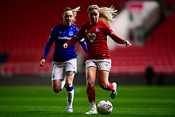 Poppy Pattinson of Bristol City is marked by Lucy Graham of Everton Women - Mandatory by-line: Ryan Hiscott/JMP - 17/02/2020 - FOOTBALL - Ashton Gate Stadium - Bristol, England - Bristol City Women v Everton Women - Women's FA Cup fifth round
