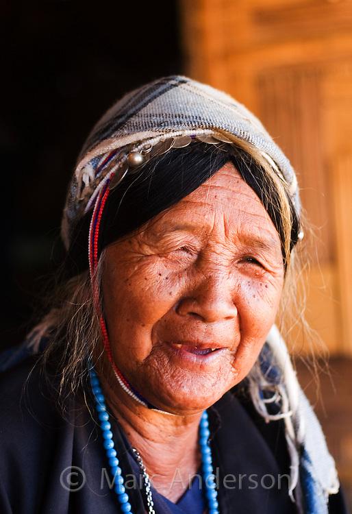 Old Thai woman, Tha Ton, Chiang Mai Province, Thailand