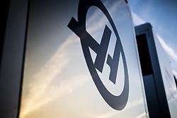 February 18, 2019 - Barcelona, Spain - Haas F1 Team VF-19 Ferrari, motorhome during Formula 1 winter tests from February 18 to 21, 2019 at Barcelona, Spain - Photo Motorsports: FIA Formula One World Championship 2019, Test in Barcelona, (Credit Image: © Hoch Zwei via ZUMA Wire)