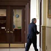 Mayor Richard Daley walks back to his office after presiding over his last City Council meeting  Wednesday May 4, 2011.    Photography by Jose More