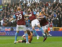 Photo: Steve Bond/Richard Lane Photography. Wolverhampton Wanderers v Aston Villa. Barclays Premiership 2009/10. 24/10/2009. Carlo Cuellar clears in the penalty area
