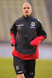 LUXEMBOURG CITY, LUXEMBOURG - Tuesday, March 25, 2008: Wales' Stephen Roberts during training at the Stade Josy Barthel ahead of the International Friendly match against Luxembourg. (Photo by David Rawcliffe/Propaganda)