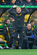 Manager of Celtic FC, Neil Lennon looks frustrated during the Ladbrokes Scottish Premiership match between Livingston FC and Celtic FC at The Tony Macaroni Arena, Livingston, Scotland on 6 October 2019.