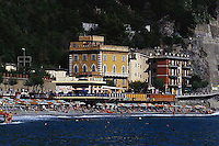 ca. 1990-2001, Monterosso, Italy --- Monterosso Beach --- Image by © Owen Franken/CORBIS