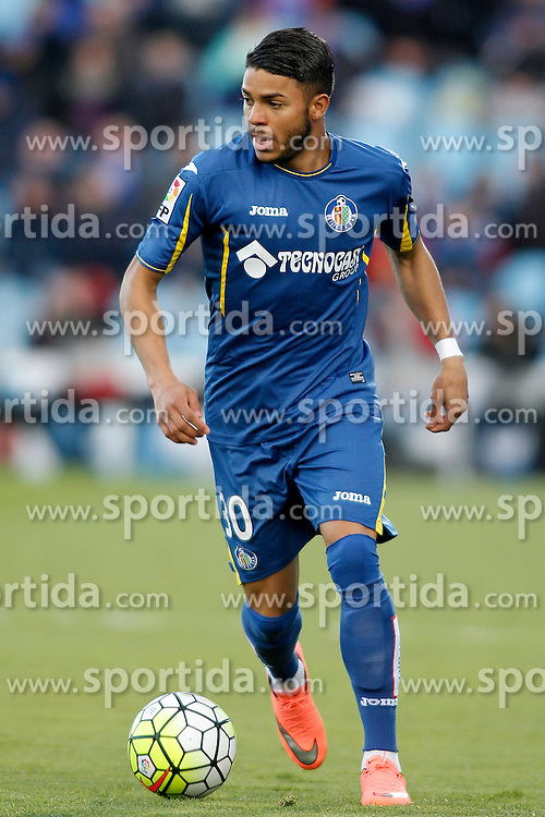27.02.2016, Estadio Balaidos, Vigo, ESP, Primera Division, Getafe CF vs RC Celta, 26. Runde, im Bild Getafe's Wanderson // during the Spanish Primera Division 26th round match between Getafe CF and RC Celta at the Estadio Balaidos in Vigo, Spain on 2016/02/27. EXPA Pictures © 2016, PhotoCredit: EXPA/ Alterphotos/ Acero<br /> <br /> *****ATTENTION - OUT of ESP, SUI*****