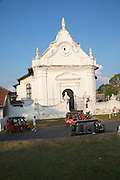 Whitewashed building Dutch Reformed Church historic town of Galle, Sri Lanka, Asia
