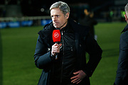 BT Sport presenter Matt Smith at the The FA Cup match between Bromley and Bristol Rovers at the Westminster Waste Stadium, Bromley, United Kingdom on 19 November 2019.