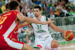 Saso Ozbolt of Slovenia at friendly match between Slovenia and Montenegro for Adecco Cup 2011 as part of exhibition games before European Championship Lithuania on August 7, 2011, in SRC Stozice, Ljubljana, Slovenia. (Photo by Matic Klansek Velej / Sportida)