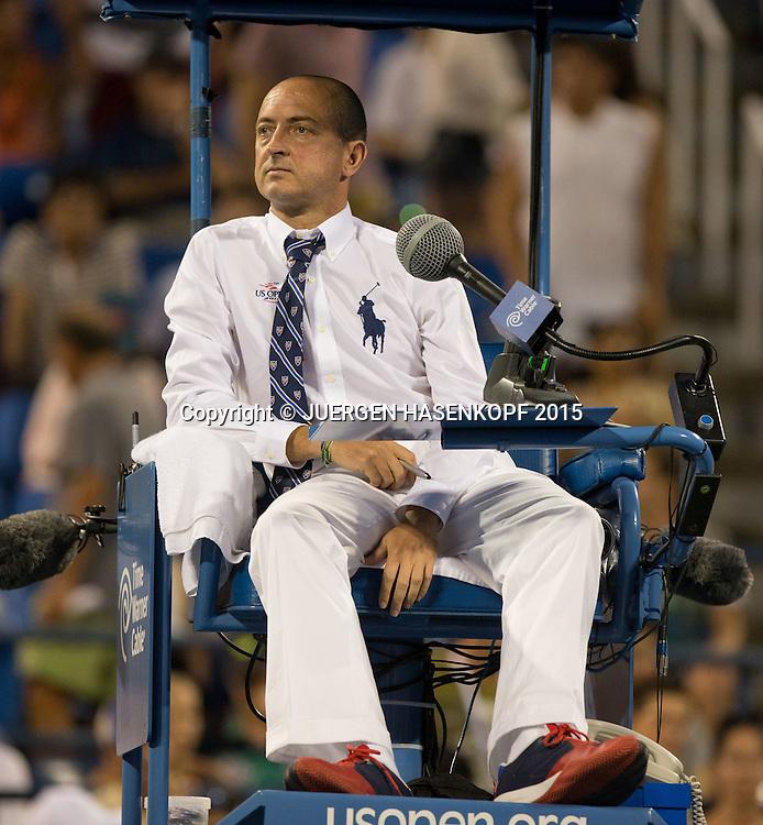 Pascal Maria  Schiedsrichter<br /> <br /> Tennis - US Open 2015 - Grand Slam ITF / ATP / WTA -  Flushing Meadows - New York - New York - USA  - 9 September 2015.