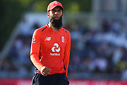 Moeen Ali during the International T20 match between England and India at Old Trafford, Manchester, England on 3 July 2018. Picture by George Franks.