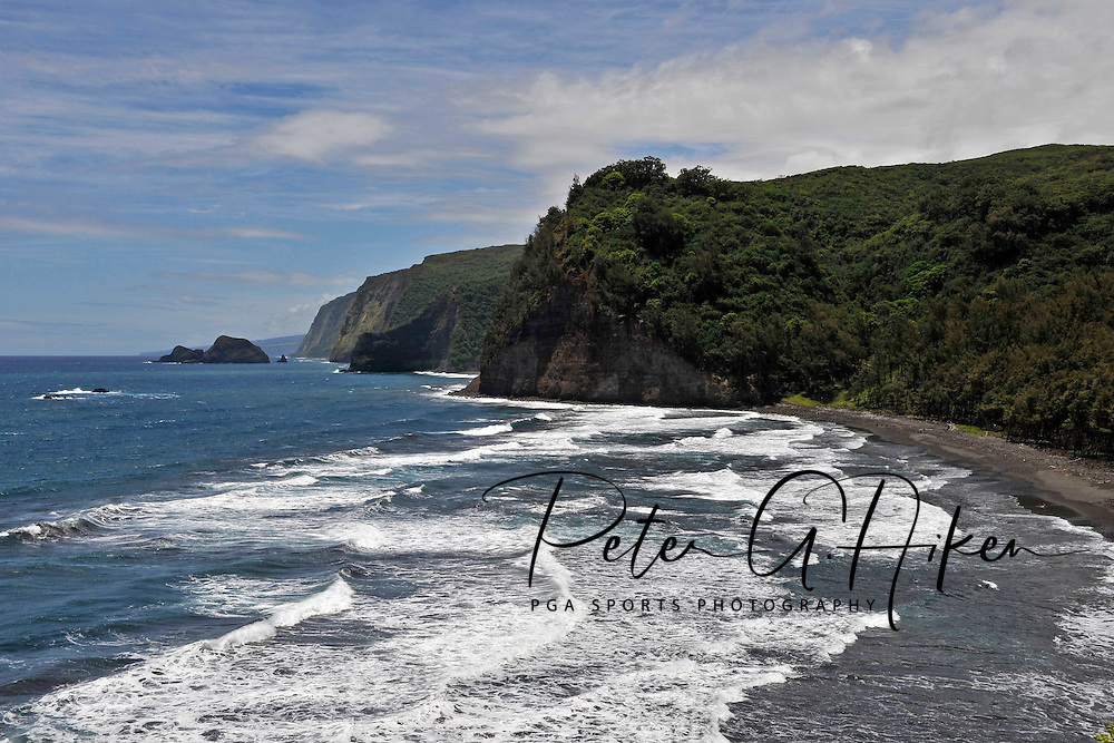The Pololu Valley Lookout located on the north point of the Big Island of Hawaii.
