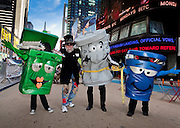 """Magician Steve Trash performs at """"Keep New York City Beautiful!"""" in Times Square on April 14, 2011. VIP's included Miss America 2011 Teresa Scanlan and John J. Doherty New York City Sanitation Commissioner. The event coincided with National Volunteer Week."""