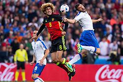 13-06-2016 FRA: UEFA EURO Belgie - Italie, Lyon<br /> België verliest met 2-0 van Italie / Marouane Fellaini (Belgia), Andrea Barzagli <br /> <br /> ***NETHERLANDS ONLY***