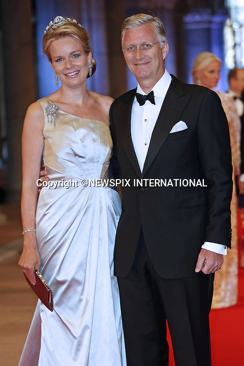 "CROWN PRINCE PHILLIPPE AND CROWN PRINCESS MATHILDE OF BELGIUM.attend the gala farewell dinner for Queen Beatrix at the Rijksmuseum in Amsterdam, The Netherlands_April 29, 2013..Crown Prince Willem-Alexander and Crown Princess Maxima will be proclaimed King and Queen  of The Netherlands on the abdication of Queen Beatrix on 30th April 2013..Mandatory Credit Photos: ©NEWSPIX INTERNATIONAL..**ALL FEES PAYABLE TO: ""NEWSPIX INTERNATIONAL""**..PHOTO CREDIT MANDATORY!!: NEWSPIX INTERNATIONAL(Failure to credit will incur a surcharge of 100% of reproduction fees)..IMMEDIATE CONFIRMATION OF USAGE REQUIRED:.Newspix International, 31 Chinnery Hill, Bishop's Stortford, ENGLAND CM23 3PS.Tel:+441279 324672  ; Fax: +441279656877.Mobile:  0777568 1153.e-mail: info@newspixinternational.co.uk"