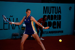 May 5, 2019 - Madrid, Spain - Karolina Pliskova (CZE) in her match against Dayana Yastremska (UKR) during day two of the Mutua Madrid Open at La Caja Magica in Madrid on 5th May, 2019. (Credit Image: © Juan Carlos Lucas/NurPhoto via ZUMA Press)