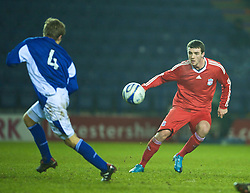 LEICESTER, ENGLAND - Tuesday, January 12, 2010: Liverpool's James Ellison in action against Leicester City during the FA Youth Cup 4th Round match at the Walkers Stadium. (Photo by David Rawcliffe/Propaganda)