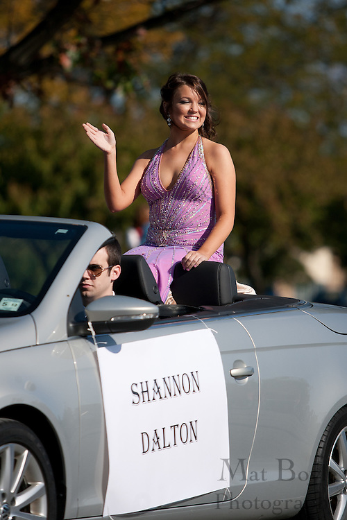 Shannon Dalton, a member of the Glassboro High School homecoming court, rides in the Glassboro High School and Rowan University Homecoming Parade on Saturday October 2, 2011. (Photo / Mat Boyle)
