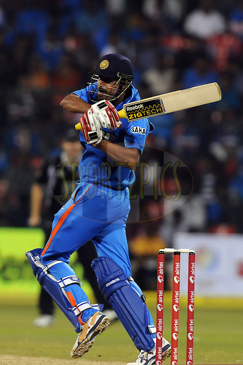 Yusuf Pathan of India bats during the 4th ODI ( One day international ) between  India and New Zealand held at the M Chinnaswamy Stadium in Bengaluru, Bangalore, Karnataka, India on the 7 th December 2010..Photo by Pal Pillai/BCCI/SPORTZPICS