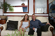 Jim and his wife Lauren in their prefab at the Excalibur estate in Catford, South London. They have been living in their prefab for 20 years and are fighting to save it as the Lewisham Council want to pull the prefabs down. Thousands of post-war prefabs are still being lived in and cherished by their tenants or owners all over the UK.