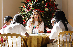 First Lady Melania Trump participates in arts and crafts projects with children and students from Joint Base Andrews in the East Wing of the White House in Washington, DC, November 27, 2017. Credit: Olivier Douliery / Pool via CNP. 27 Nov 2017 Pictured: First Lady Melania Trump participates in arts and crafts projects with children and students from Joint Base Andrews in the East Wing of the White House in Washington, DC, November 27, 2017. Credit: Olivier Douliery / Pool via CNP. Photo credit: Olivier Douliery - Pool via CNP / MEGA TheMegaAgency.com +1 888 505 6342