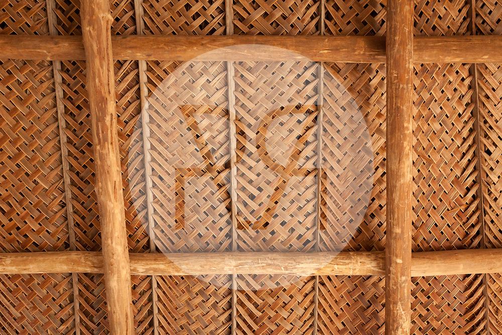 KOLUMBIEN - PARK TAYRONA - Palmendach der Hängematten-Kiosk Unterkunft in 'El Cabo de San Juan' im Tayrona Nationalpark an -  08. April 2014 © Raphael Hünerfauth - http://huenerfauth.ch