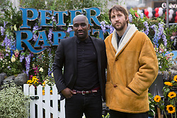 Vauxhall Jermaine, left, and Tommy Greaves attending the Peter Rabbit UK Gala Premiere held at Vue West End in Leicester Square, London.