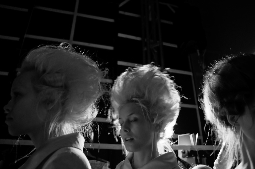 """Stage and backstage photos from the """"Athens Xclusive designers week"""" and """"Athens Fashion Week"""". March 2010."""