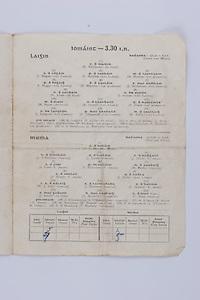 Interprovincial Railway Cup Football Cup Final,  17.03.1954, 03.17.1954, 17th March 1954, referee A Mac Giolla Cearr, Connacht 1-05, Leinster 1-07,.Interprovincial Railway Cup Hurling Cup Final,  17.03.1954, 03.17.1954, 17th March 1954, referee M S O Flairbeartaig, Leinster 0-09, Munster 0-05, Hurling Team Leinster, K Matthews, J Hogan, P Hayden, M Hanlon, P Buggy, E Wheeler, J McGovern, N Allen, J Sutton, M Ryan, R Carroll, T Flood, J Langton, P Fitzgerald, M Kelly, P Lillis, J Prior, W Rackard, N Rackard, J Morrissey,  Hurling Team Munster, A Redlan, J O'Riordan, J Lyons, J Doyle, S Finn, P Stakelum, M Fuohy, J Hough, J Kiely, W J Daly, J Hartnett, S Bannon, J Smith, D McCarthy, C Ring, A O'Shaugnessy, M Byrne, M Nugent, J O'Connor, T Moroney,