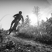 Jeff Brines rides the new Hightower LT from Santa Cruz Bicycles. On the Parallel Trail off of Teton Pass.