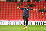 Ederson during the Premier League match between Stoke City and Manchester City at the Bet365 Stadium, Stoke-on-Trent, England on 12 March 2018. Picture by Graham Holt.