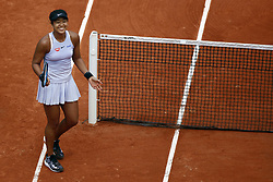May 30, 2019 - Paris, France - Japan's Naomi Osaka celebrates after winning against Belarus' Victoria Azarenka during their women's singles second round match on day five of The Roland Garros 2019 French Open tennis tournament in Paris on May 30, 2019. (Credit Image: © Mehdi Taamallah/NurPhoto via ZUMA Press)
