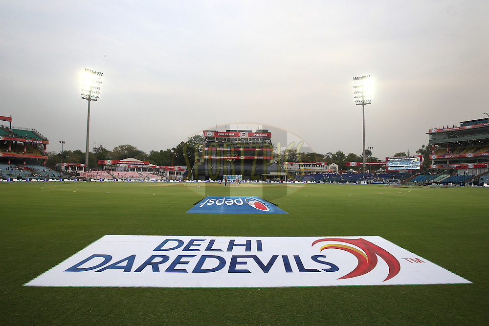 General View during match 23 of the Pepsi Indian Premier League Season 2014 between the Delhi Daredevils and the Rajasthan Royals held at the Feroze Shah Kotla cricket stadium, Delhi, India on the 3rd May  2014<br /> <br /> Photo by Shaun Roy / IPL / SPORTZPICS<br /> <br /> <br /> <br /> Image use subject to terms and conditions which can be found here:  http://sportzpics.photoshelter.com/gallery/Pepsi-IPL-Image-terms-and-conditions/G00004VW1IVJ.gB0/C0000TScjhBM6ikg