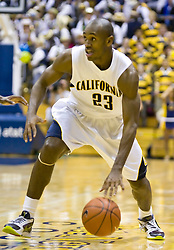 February 11, 2010; Berkeley, CA, USA;  California Golden Bears guard Patrick Christopher (23) during the second half against the Washington Huskies at the Haas Pavilion.  California defeated Washington 93-81.