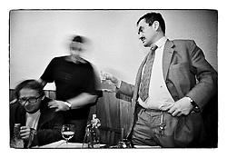*En_Cechoslovakia,1991, Lany - Birthday of friend and adviser Jiri Krizan in a pub in lany village*    Cz_Oslava narozenin kamarada a poradce Jiriho Krizana v Lanech