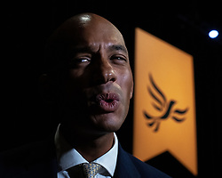 © Licensed to London News Pictures . CORRECT DATE: 16/09/2019. Bournemouth, UK. CHUKA UMUNNA in the conference hall after delivering his conference speech . The Liberal Democrat Party Conference at the Bournemouth International Centre . Photo credit: Joel Goodman/LNP