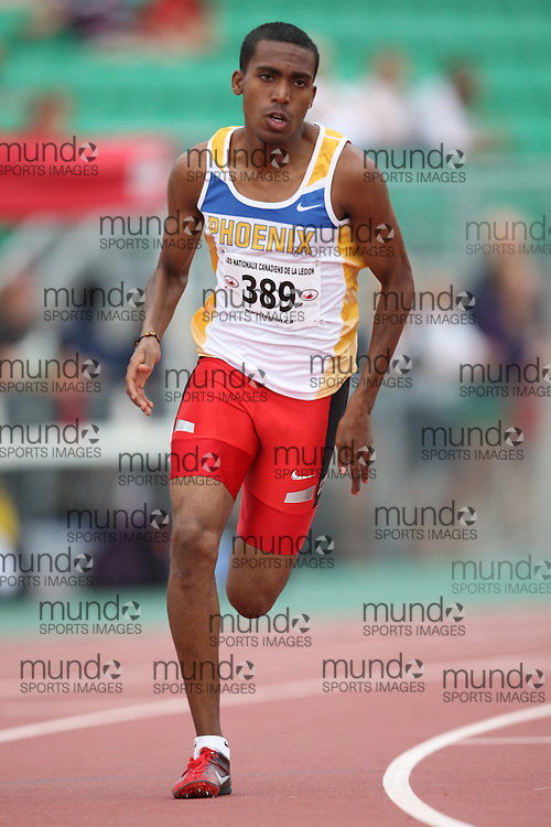 Sherbrooke, Quebec ---09/08/09---  Merid Seleshi of Phoenix Athletics Assoc. competes in the 800 metres at the 2009 Legion Canadian Youth Track and Field Championships in Sherbrooke, Quebec, August 10, 2009..HO/ Athletics Canada (credit should read GEOFF ROBINS/Mundo Sport Images/ Athletics Canada)..