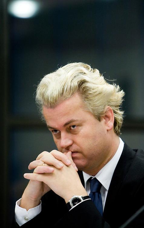Nederland. Den Haag, 7 december 2007.<br /> Hoorzitting over de militaire, humanitaire en politieke omstandigheden in Uruzgan.<br /> Geert Wilders, fractievoorzitter PVV<br /> Foto Martijn Beekman <br /> NIET VOOR TROUW, AD, TELEGRAAF, NRC EN HET PAROOL