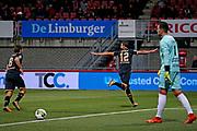 Pantelis Hatzidiakos of AZ Alkmaar celebrates 0-1 with Joris van Overeem of AZ Alkmaar