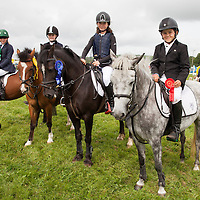 RtoL (from 1st prize to 4th): prize winners at the 1 to 8 m pony jumping at the Scarriff Agricultural Show 2014 were J Naughton, Ciara Fives, Emily Costelloe and Sophia Dooley